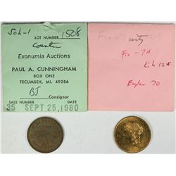 $5 Liberty Gem Spiel Marke & Whist Token  (121472)