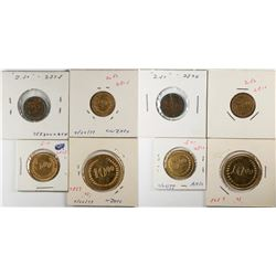 Counters in Gold Coin Denominations: Partial Wreath  (120142)