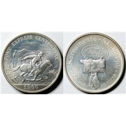Pony Express Centennial Silver Medal  (119899)