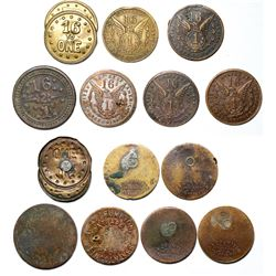 William Jennings Bryan 16 to 1 Tokens  (119893)
