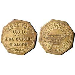 J. Mc Cargers Saloon Token  (119894)