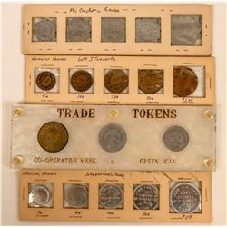 Four Kansas Token Collections  (123073)
