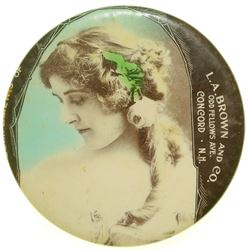 L.A. Brown and Co. Advertising Mirror  (101182)