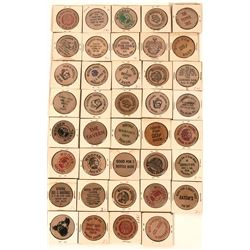 Liquor, Saloon and Bar related wooden nickels  (123009)