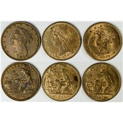 Type Set of Three Major Varieties of California Miner Counters  (121539)