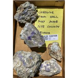 Creedeite from the Hall Moly Mine, Group 1  (122168)