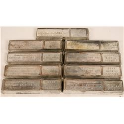Nine American Smelting & Refining Company Nickel Bars  (121722)