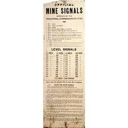 Utah Mine Bell Signal Sign, Tin  (84833)