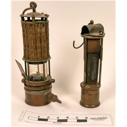 Miners Safety Lamp Pair  (122731)