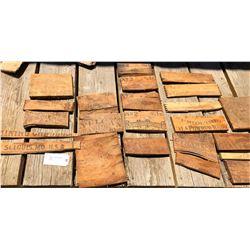 Broken Box Ends of Rare Powder & Candle Boxes  (122059)