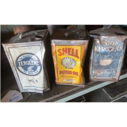 Early Oil and Fuel Tins (3)  (122150)