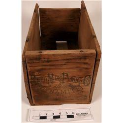 EXTREMELY RARE Safety Nitro Powder Co. Wood Box  (121727)