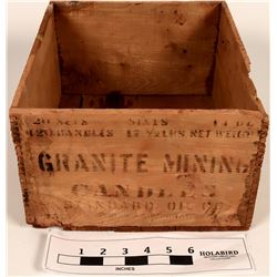 Granite Mining Candles Wood Box  (121723)