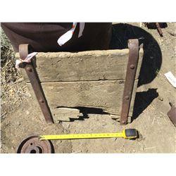 Original Wood Ore Car Hinged End Plate  (122023)