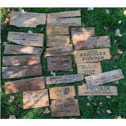 Powder Box Ends and Planks, Assortment #1  (122030)