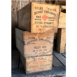 Dupont Explosive Wood Boxes (3)  (122153)