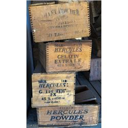 Hercules Powder Boxes (4 Different)  (122156)