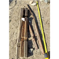 Three Ore Track Related Pieces and Two Movable Tract Pieces from an Underground Mine  (119461)
