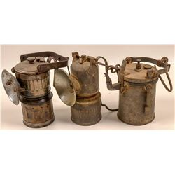 "Carbide Miners Lamps /  "" Superintendent's "" / 3 Items  (109581)"