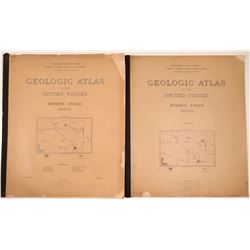 Geologic Atlas of the U.S., Bisbee Folio, Arizona (2)  (109500)