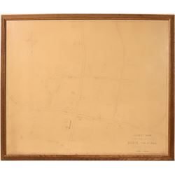 Bodie, California, Street Map by Brill  (110721)