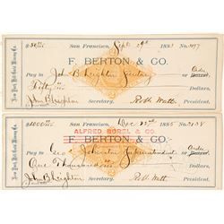New York Hill Gold Mining Co. Revenue Checks (2)  (58563)