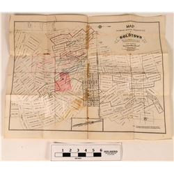 Map of Mining Properties at Goldtown, Mojave Mining District  (113579)