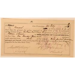 Union Mill & Mining Co. Promissory Note Issued to William Sharon  (113556)