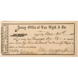 Van Wyck & Co. Assay Receipt  (113545)