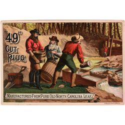 "Miners Trade Card for ""49"" Cut Plug Tobacco  (113477)"