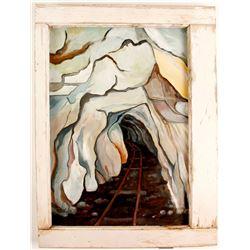 Framed Mine Shaft Painting  (87445)