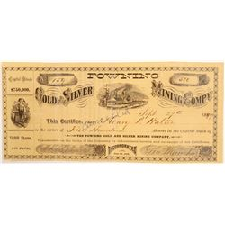 Powning Gold and Silver Mining Stock Certificate  (105253)