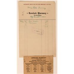 Lovelock Pharmacy Ephemera  (113395)