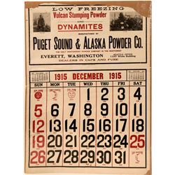 Puget Sound & Alaska Powder Co. Adv. Calendar, Dec. 1915  (110290)