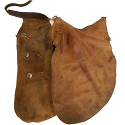Western Brown Suede Chaps  (108754)