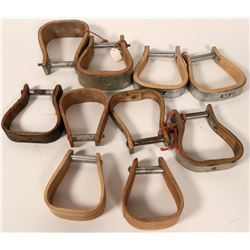 Wooden and Metal-Trimmed Stirrups (10)  (109798)