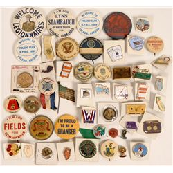 Large Fraternal Pinback Collection  (118901)
