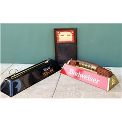 Pool Table Lights w/ Two Beer Signs  (110693)