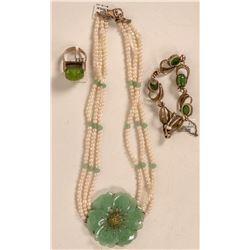 Faux Jade Pieces  (121507)