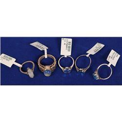 Sterling Silver Ladies Rings (5)  (121571)