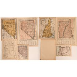 Nevada Vintage Maps (4 Different)  (116032)