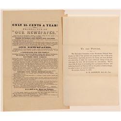 Baltimore Newspaper and Rockford Seminary Billheads  (104536)