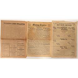 Nevada Historical Newspapers (3)  (100034)