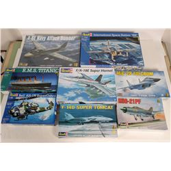 Model Airplanes & Ships by Revell (8)  (108514)
