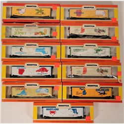 Model Train: Commemorative State Box Cars HO East, Mid-East  (121304)