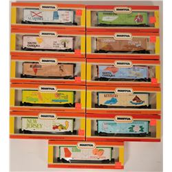 Model Train: Commemorative State Box Cars HO, Southern US  (121305)