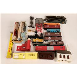 Model Train: HO rolling stock, track and Bldgs/  (121315)
