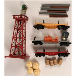 Model Train: Lionel Rotating beacon and cars  (121307)