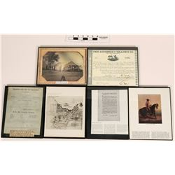 Framed Document Reproductions (6)  (120851)