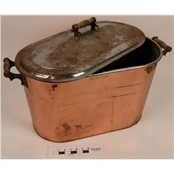 Copper Bin with Embossed Top, Hennessey Company  (121682)